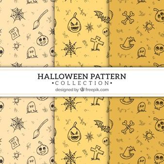 Gespenstisches halloween-muster