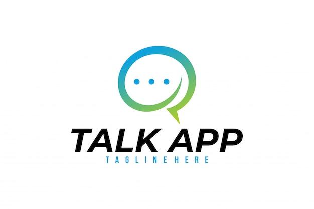 Gesprächs-app-logovektor lokalisiert