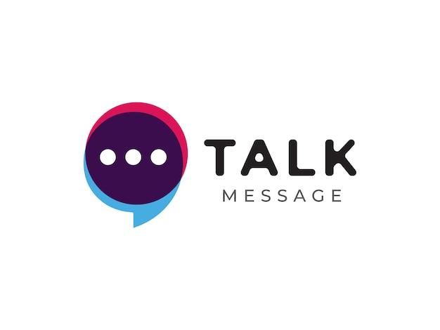 Gesprächs- und botschaftslogo-designkonzept