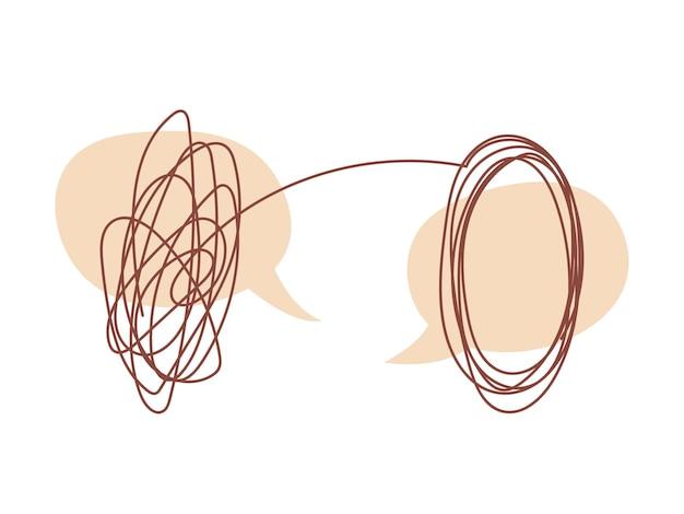 Gesprächskonzept mit psychotherapeut bubbles dialog und probleme lösen
