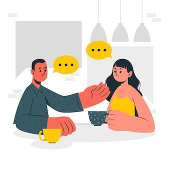 Gesprächskonzeptillustration