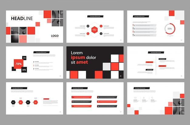 Gestaltung der geschäftspräsentation und layout der broschüre