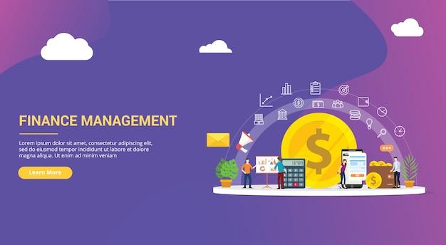 Gestaltung der website für das finanzmanagement