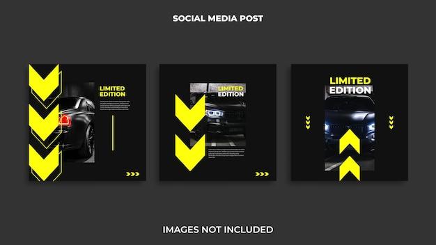 Gestaltung von instagram-posts für automobile