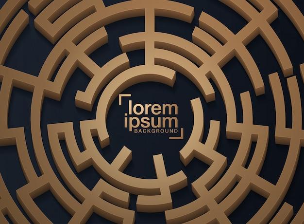 Gestaltungselementhintergrund mit labyrinthbeschaffenheit