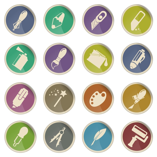 Gestaltungswerkzeuge. einfach symbol für web-icons