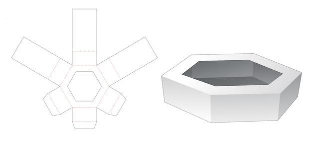Gestanzte schablone aus sechseckigem karton