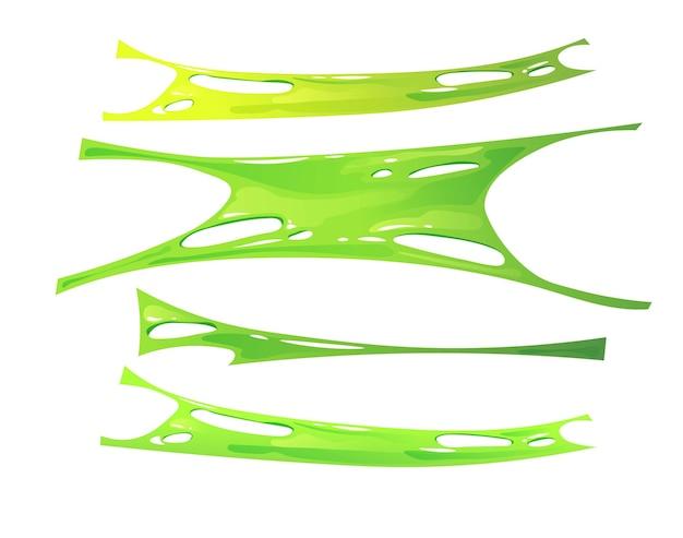 Gestreckter grüner schleim. sinnesspielzeug für kinder.