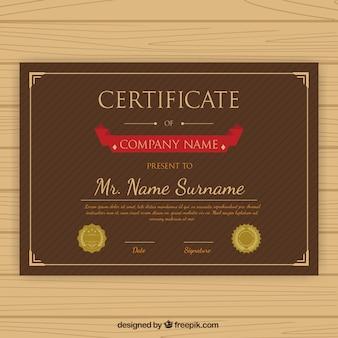 Gestreifte anerkennung zertifikatvorlage