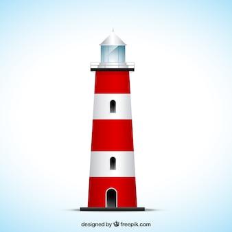 Gestreifte leuchtturm