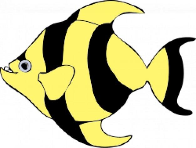 Gestreiften tropische fische