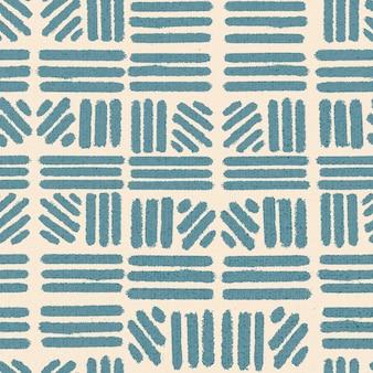 Gestreifter ethnischer hintergrund, vintage-blockdruck-design