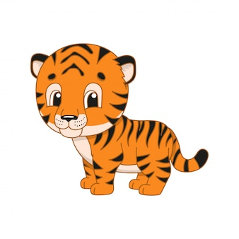 Gestreifter tiger.