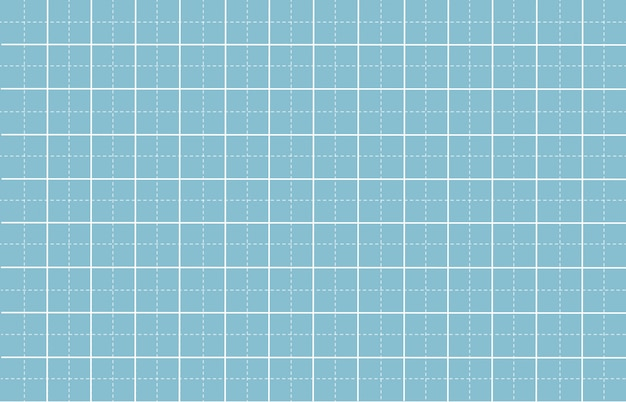 Gestrichelte linie rasterpapier mit weißem musterhintergrund