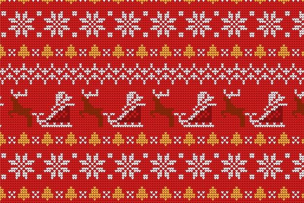 Gestrickte weihnachtsmusterkollektion