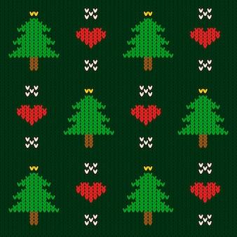 Gestrickte weihnachtsmusterschablone