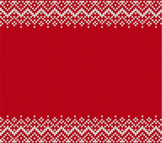 Gestrickter strukturierter hintergrund. stricken sie geometrische verzierung mit leerem copyspace. strickmuster für einen pullover