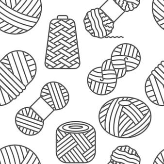 Gestricktes nahtloses muster in weißer farbe stricken häkeln handgemachtes linienwiederholungsdesign