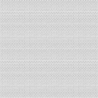 Gestricktes nahtloses muster. weißer strickhintergrund. vektor-illustration