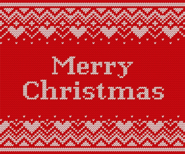 Gestricktes weihnachtsmuster, gestrickte nahtlose textur,