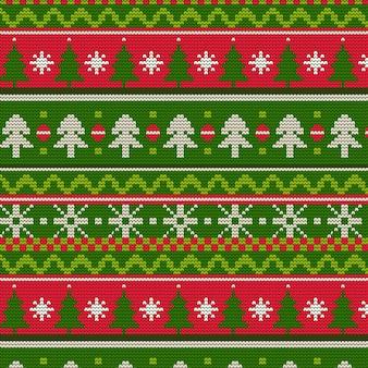 Gestricktes weihnachtsmuster