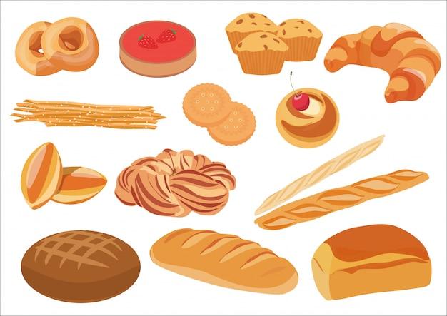 Gesunde brotbäckereiprodukte eingestellt