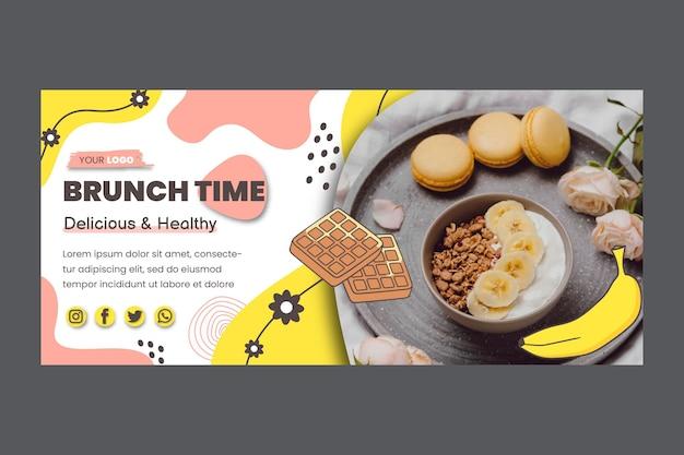 Gesunde brunch-banner-vorlage
