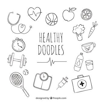 Gesunde doodles