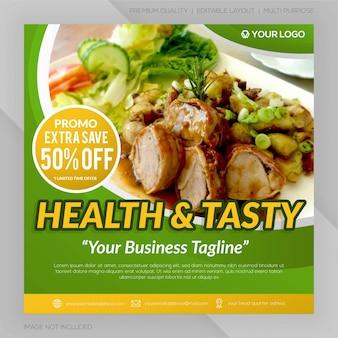 Gesunde ernährung banner vorlage