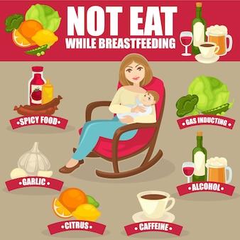 Gesunde ernährung für stillende mütter.