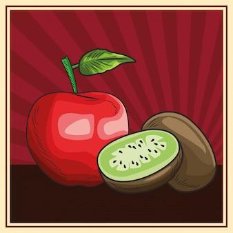 Gesunde ernährung mit frischem obst