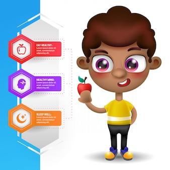 Gesunde ernährung und vorteile infografiken