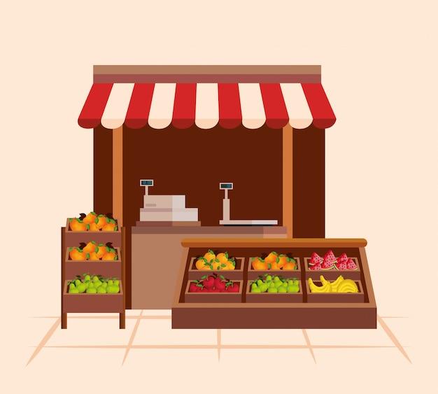 Gesunde gemüse- und fruchtnahrungsprodukte