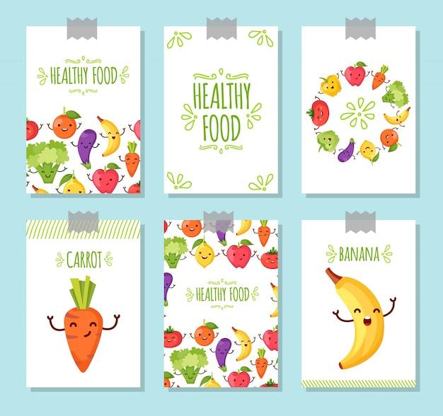 Gesunde lebensmittel hintergrund sammlung