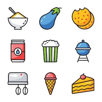 Gesunde lebensmittel-icons