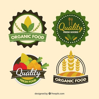 Gesunde lebensmittel-logo-sammlung
