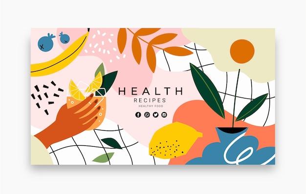 Gesunde lebensmittelrezepte youtube-kanal-kunstvorlage