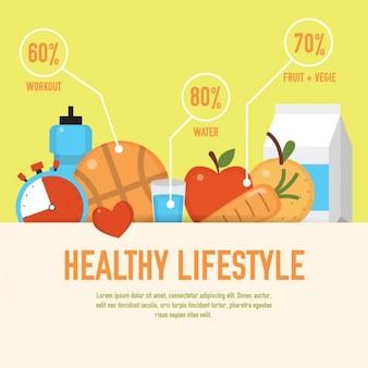 Gesunde lebensweise grafik
