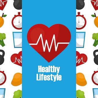 Gesunde lebensweise herzfrequenz cardio-pflege