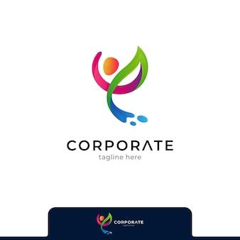 Gesunde menschen logo symbol vorlage