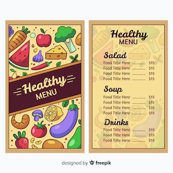 Gesunde menüvorlage