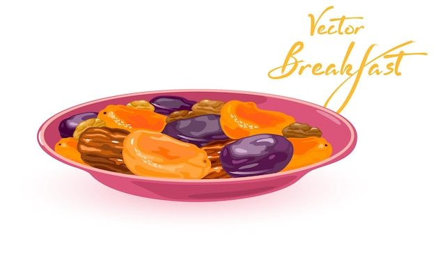 Gesunde nahrhafte vitaminisierte trockenfrüchte