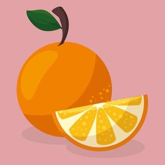 Gesunde nahrung der frischen orangenfrucht