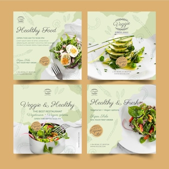 Gesunde restaurant-instagram-beiträge