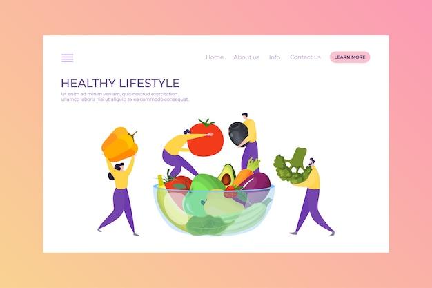 Gesunde vegane lebensmittelillustration