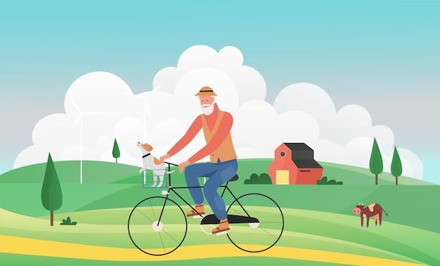 Gesunder aktiver lebensstil für senioren