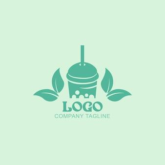 Gesunder frischer fruchtsaft logo-design