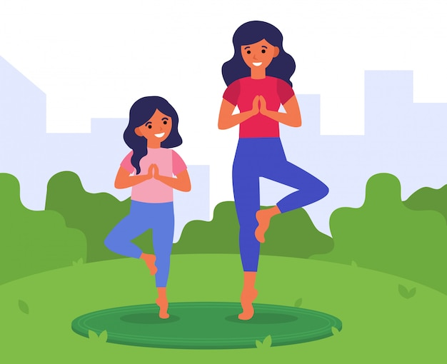 Gesunder lebensstil, fitness für die familie