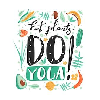 Gesunder lebensstil und yoga-konzept