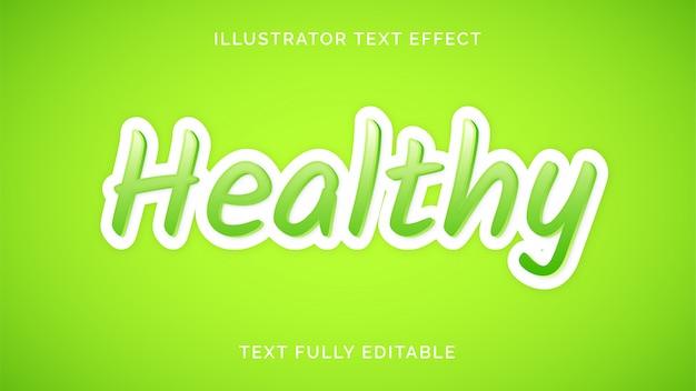 Gesunder texteffekt